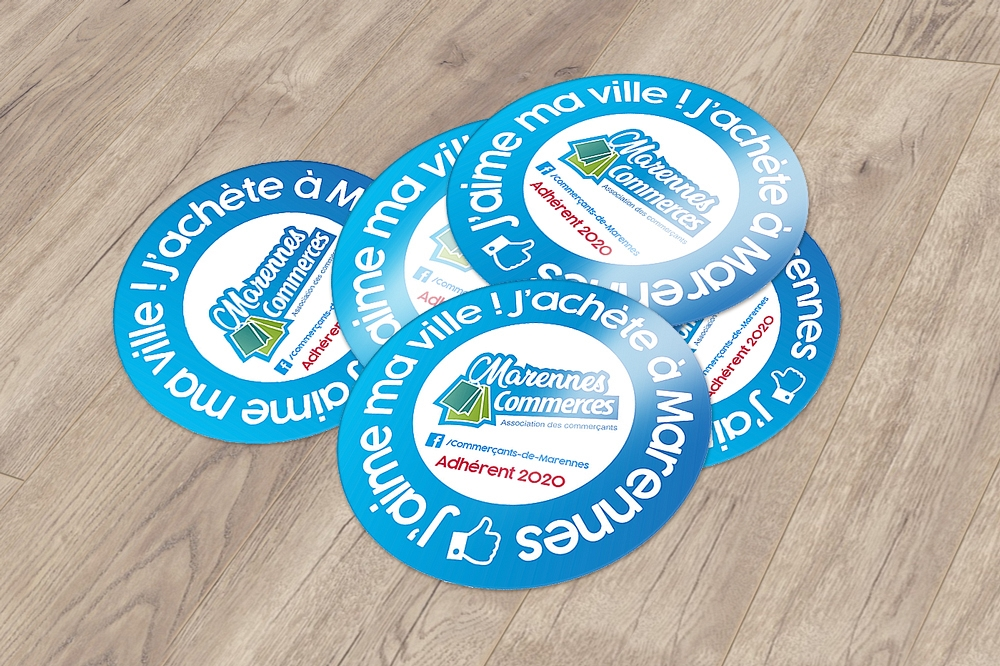 Marennes Commerces - Stickers